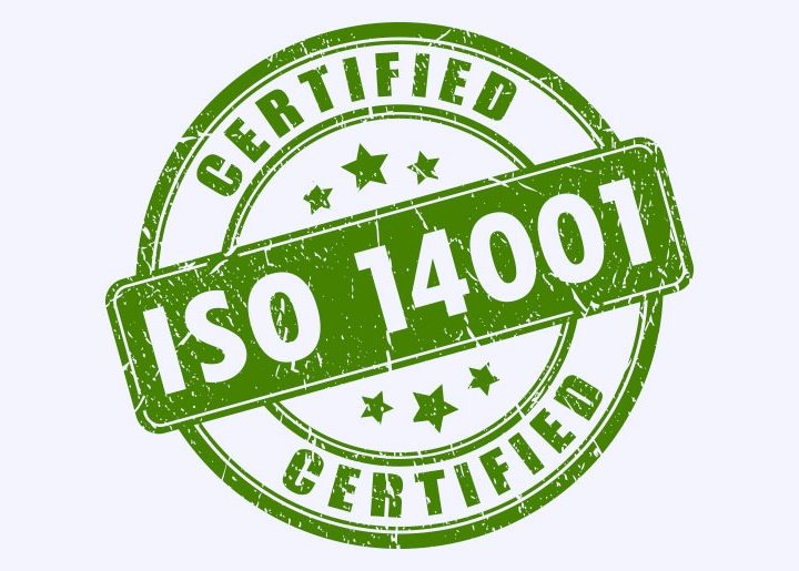 ISO 14001 environmental management certificate